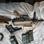 various paintball and air soft