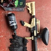 Tippman Cronus paintball gun and accessories