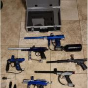 6 Paintball Guns/ Attatchments Not Tested