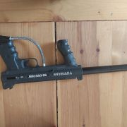 2 tippmann 98's with custom barrel mods and sight