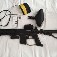 Tippmann Sierra One - Black (Includes - Red Dot Sight + Arms Grip + Balls Holder + Carry Case)